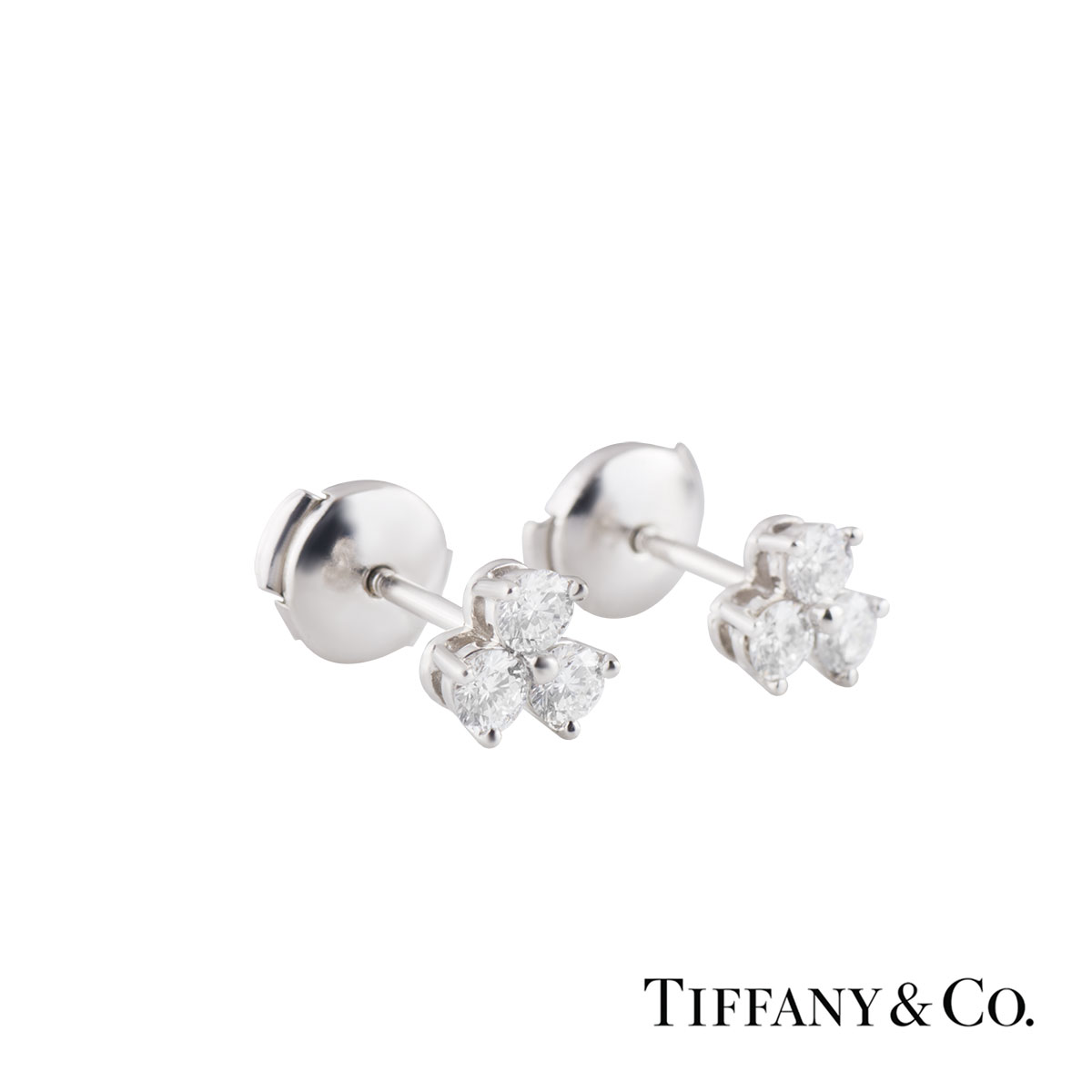 4c456f61638 Tiffany   Co. Platinum Diamond Aria Earrings 0.60ct G VS ...